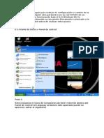 Cambio de La Dirección IP