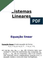 Sistema de Eq. Lineares. Inicio