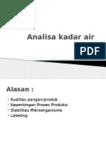 Analisa Kadar Air
