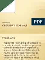 Operația cezariană - microcurs