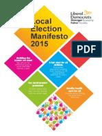 2015 liberal democrat local election manifesto