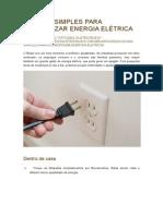 20 Dicas Simples Para Economizar Energia Elétrica