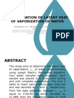 Heat of Vaporization of Water