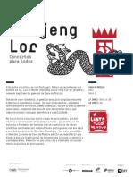 20140118 | Programa de Sala kanjeng Lor | Concertos para Todos