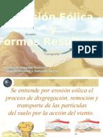 Erosion Eolica y Formas Resultantes