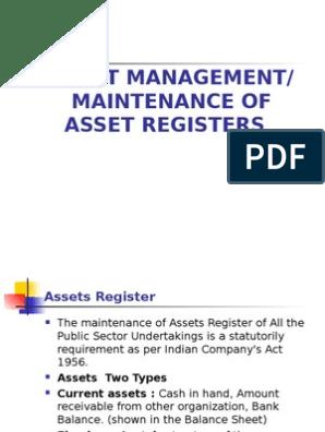 Asset Management | Depreciation | Fixed Asset