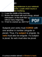 subject verb