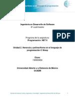 Unidad 2. Herencia y polimorfismo en lenguaje de programacion CSharp.pdf