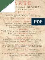 Arte de la Legua General del Reyno de Chile