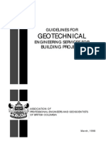 APEGBC Guidelines Geotechnical Engineering Services for Building
