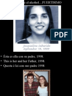 la chica 16 años Acciente Borracho