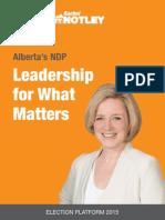 Alberta NDP Platform 2015