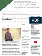 Cultura Hípster, Individualismo y Nueva Dominación Cultural Capitalista
