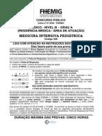 FHEMIG 2009 Medicina Intensiva Pediátrica Gabaritada