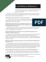 The FDA and Medical Marijuana