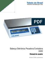 Manual Toledo 3400