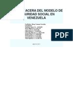 Modelo de Seguridad Social en Venezuela