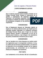 Reglamento Interior de Juzgados y Tribunales Penales