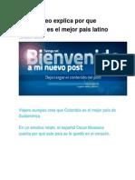 Un Europeo Explica Por Que Colombia Es El Mejor Pais Latino