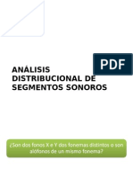 Análisis Distribucional de Segmentos Sonoros