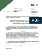 Observaciones Finales del Comité de Derechos Humanos 2001