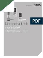 Kaba Simplex Price Book- 2015