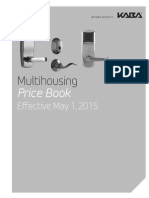 Kaba Multihousing Price Book- 2015