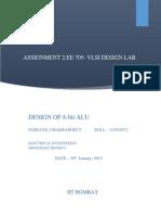 Design of a 8-bit ALU