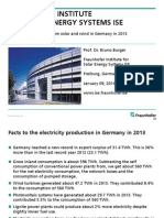 © Fraunhofer ISE Electricity production from solar and wind in Germany in 2013 - Fraunhofer