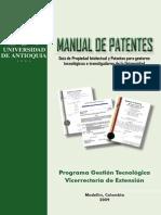 Manual Patentes Universidad de Antioquia