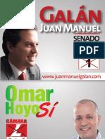 Afiche con fórmula a Antioquia