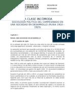 LA CLASE INCÓMODA - Sociología Política Del Campesinado en Un Sociedad en Desarrollo