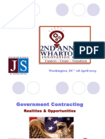 Realities & Opportunities in Government Contracting - Wharton Innovation Summit - Jennifer Schaus