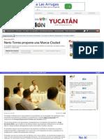 06-05-2015 Nerio Torres propone una Marca-Ciudad