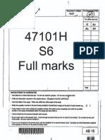 gcse english literature full marks