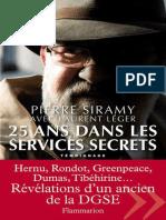 25 ans dans les services secrets - Siramy,Pierre.epub