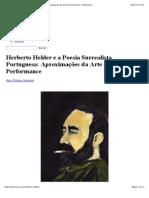 Herberto Helder e a Poesia Surrealista Portuguesa