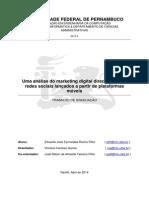 Uma análise do marketing digital direcionado em redes sociais lançados a partir de plataformas móveis