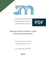 Introducción Al Estudio de La Población y Análisis Demográfico Para Políticas Públicas
