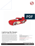 Lightning Mc Queen Papercraft - Radiator Spring Paint Job