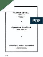 Continental A50 A65 A75 Operators Handbook