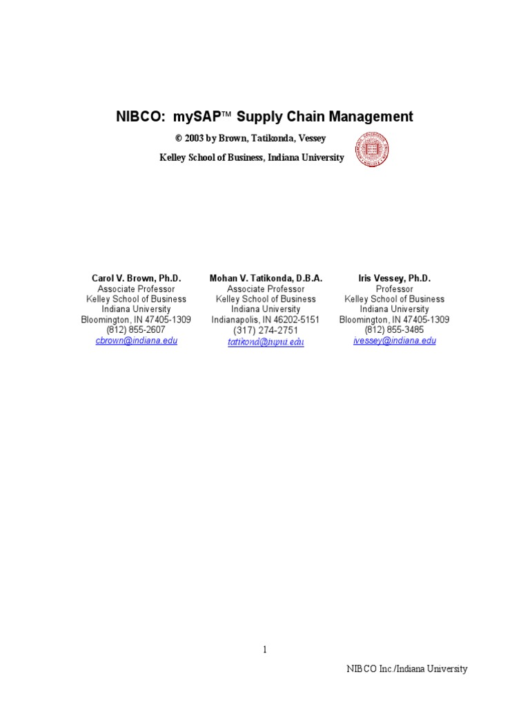 case study ii-1 vendor-managed inventory at nibco