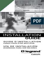 Cablofil guia  Installation