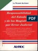 Aguero, Mirta n. - Responsabilidad Del Estado y Los Magistrados Por Error Judicial