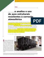 Estudo Analisa o Uso de Aços Estruturais Resistentes a Corrosão Atmosférica