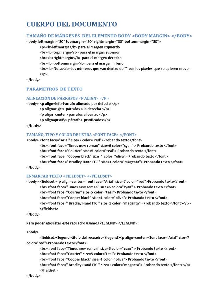 Continuando Con HTML y Sus Etiquetas