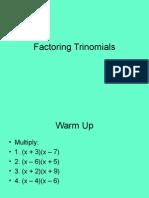 7 11 factoring monic quadratics trinomials