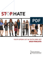 2015 Finalists for Youth Speak Out & Youth Sing Out