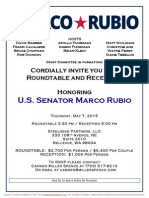 Roundtable & Reception  for Marco Rubio for President