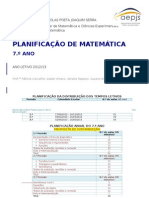 7o Ano Planificacao Matematica 1213